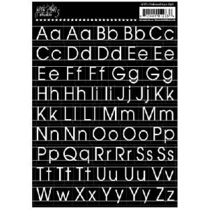 Jenni Bowlin - Chalkboard Alpha Stickers Black